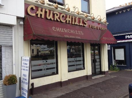 Churchhills Fish and Chip shop in Woodford Green
