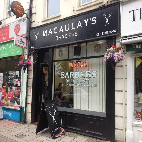 Macauley's Barbers in Woodford Green