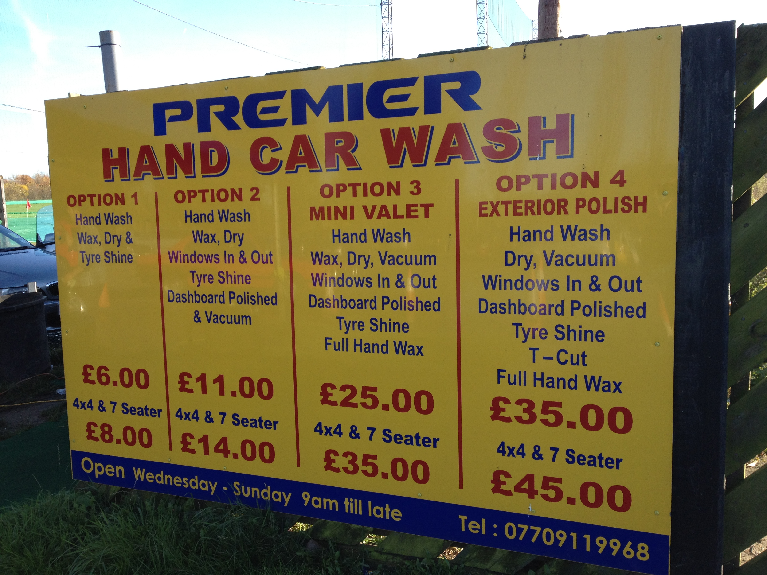 Car Wash Prices: TNA Premier Hand Car Wash Chigwell